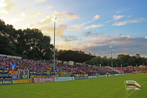 Das Hermann-Neuberger-Stadion (Foto: Hell)
