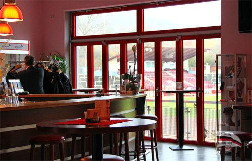 Unser VIP-Bereich im Clubheim (Foto: Hell)